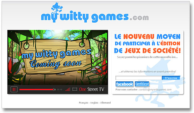 My Witty games - Le Site Web